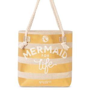 Spartina 449 Gold Tan Mermaid For Life Rope Tote